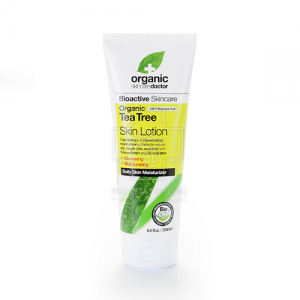 DR.ORGANIC  Organic Tea Tree Face Wash - Τζελ Καθαρισμού για το Πρόσωπο με Βιολογικό Τεϊόδεντρο 200ml