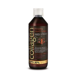 Collagen Pro-Active με γεύση Φράουλα Υγρό πόσιμο κολλαγόνο με ΔΩΡΟ 20% ΠΕΡΙΣΣΟΤΕΡΟ ΠΡΟΪΟΝ 600ml