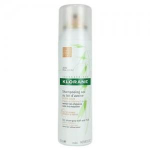 Klorane Shampoo Sec Spray Avoine Teinte Naturelle 150ml Ξηρό σαμπουάν με γαλάκτωμα βρώμης για ανοικτά ή σκούρα καστανά μαλλιά