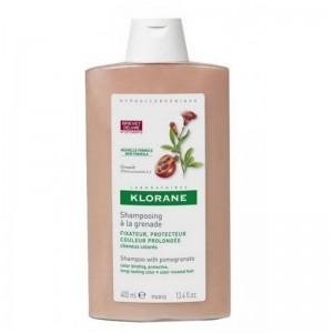 Klorane Shampoo A La Grenade Σαμπουάν με εκχύλισμα από Ρόδι για διατήρηση του χρώματος στα βαμμένα μαλλιά 400ml