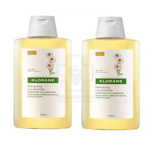 Klorane Shampoo Camomille Promo Σαμπουάν με εκχύλισμα από χαμομήλι για ξανθές ανταύγειες 2 x 400ml