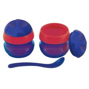 Primamma Μπωλ-Θερμός & Κουταλάκι 7m+, 1 θερμός & 1 κουταλάκι Μπλε