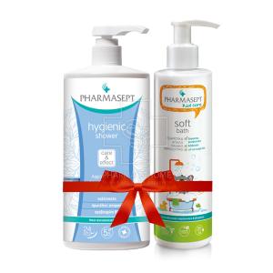 Πακέτο Δώρου - Pharmasept Kid Care Soft Bath Εξαιρετικά Απαλό Παιδικό Αφρόλουτρο 500ml & Pharmasept Tol Velvet Hygienic Shower 1lt