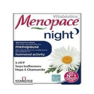 Vitabiotics Menopace Night Συμπλήρωμα Διατροφής για την Εξάλειψη των Νυχτερινών Συμπτωμάτων της Εμμηνόπαυσης, 30 tabs
