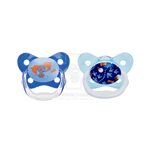 Dr. Brown's PreVent Contoured Μπλε Ελεφαντάκι & Πεταλούδες 6-12m 2τμχ [PV22402]