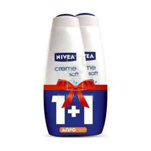 Πακέτο - Nivea Cream 1+1 ΔΩΡΟ Bath Creme Soft 750ml x2
