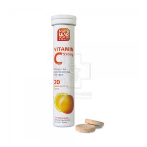 Nutralead Vitamin C 550mg Για Ενίσχυση του Ανοσοποιητικού 20 αναβράζον tabs