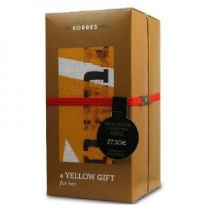 Korres Yellow Gift Her White tea Bergamot Freesia Άρωμα 50 ml & Body milk 125 ml
