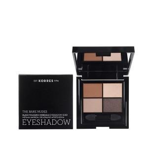 Korres Black Volcanic Minerals Eyeshadow Quad -The Bare Nudes 5g
