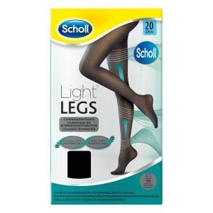 DR. Scholl Light Legs Καλσόν Διαβαθμισμένης Συμπίεσης 20 Den Medium Μαύρο 1 Ζεύγος