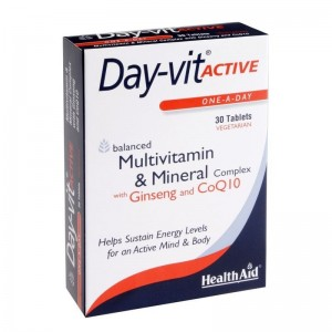 Health Aid Day-vit Activ Co-Q-10 & Ginseng Συμπλήρωμα Διατροφής 30tabs.