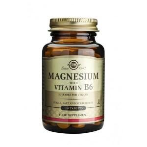 SOLGAR MAGNESIUM WITH VITAMIN B6 100CAPS