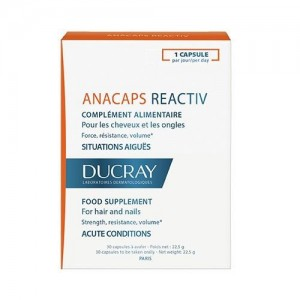 Ducray Anacaps Re-Activ Food Supplement, 30 caps ,Συμπλήρωμα Διατροφής κατά της Τριχόπτωσης