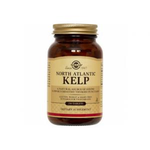 Solgar Kelp 200μg Ιώδιο.Για τη φροντίδα των μαλλιών, των νυχιών, του δέρματος, των οστών & των μυών,250tabs
