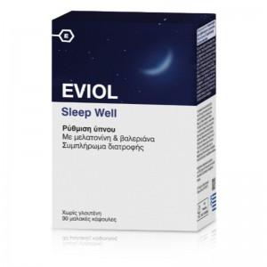 Eviol Sleep Well Συμπλήρωμα Διατροφής για τη Ρύθμιση του Ύπνου 30 Κάψουλες