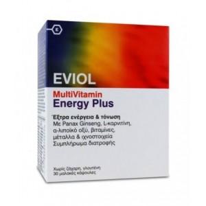 Eviol MultiVitamin Energy Plus Συμπλήρωμα Διατροφής 30caps