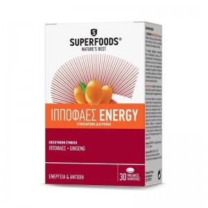 Superfoods Ιπποφαές Energy Συμπλήρωμα Διατροφής 30 Caps.