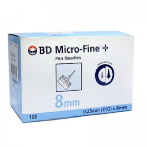 BD Micro-Fine + 8mm, Αποστειρωμένες βελόνες ινσουλίνης 31G 0,25 x 8mm
