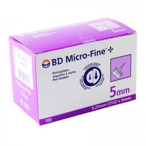 BD Micro-Fine + 5mm, Αποστειρωμένες βελόνες ινσουλίνης 31G 0,25 x 5mm
