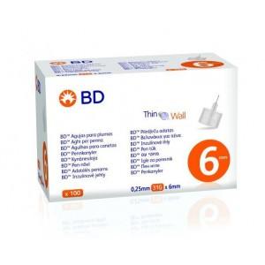 BD Βελόνες για πένες Ινσουλίνης 31G X 6mm