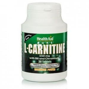 HEALTH AID L-Carnitine 550mg tablets 30