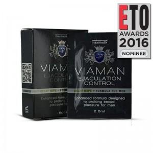 Viaman Delay Wipes για Καλύτερο Σεξουαλικό Έλεγχο, 2.5ml  6τμχ