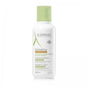 A-Derma Exomega Control Emollient Cream Μαλακτική Κρέμα για το Αίσθημα του Κνησμού 400ml.