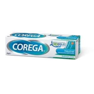 Corega 3D Hold Neutral Στερεωτική Κρέμα Οδοντοστοιχιών 40g (ουδέτερη γεύση)