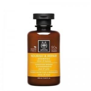 Apivita Nourish & Repair Σαμπουαν  Θρέψης & Επανόρθωσης με Ελιά & Μέλι 250ml