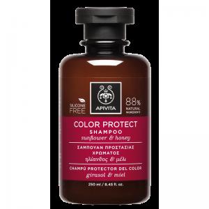 Apivita Color Protect Σαμπουαν Προστασίας Χρώματος με Ηλίανθο & Μέλι 250ml