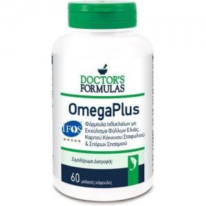 Doctor's Formula OmegaPlus Φόρμουλα Ιχθυελαίων με Ελαιοευρωπαίνη & Εκχύλισμα Καρπού Κόκκινου Σταφυλιού 60caps