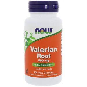NOW FOODS Valerian Root 500 mg, 100 caps