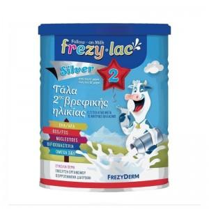 Frezylac Follow-On Milk Silver 2 Αγελαδινό Γάλα σε Σκόνη 2ης Βρεφικής Ηλικίας από τον 6ο έως τον 12ο μήνα 400gr.