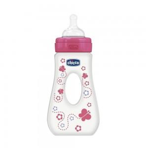Chicco Μπιμπερό Πλαστικό Ροζ, 240 ml (75725-11)