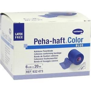Hartmann Peha-haft αυτοκόλλητος στερεωτικός ελαστικός επίδεσμος χωρίς λάτεξ 6 cm x 20 m Blue
