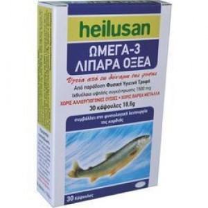 Heilusan Omega 3 500mg Χωρίς Βαρέα Μέταλλα, 30 Κάψουλες