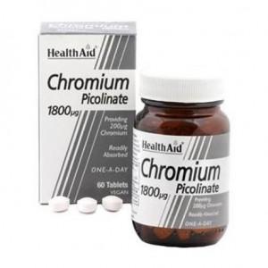 Health Aid Chromium Picolinate 1800mcg 60 ταμπλέτες