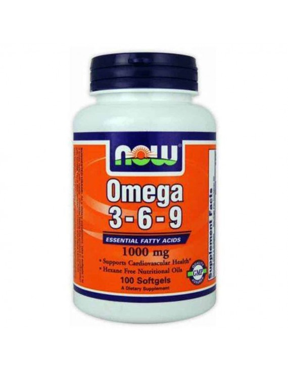 Now Foods Omega 3 6 9, 1000mg, 100 Μαλακές Κάψουλες