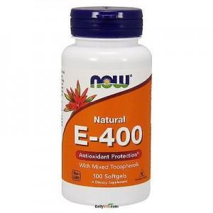 Now Foods Vitamin E-400 plus Selenium 100 mcg 100 softgels