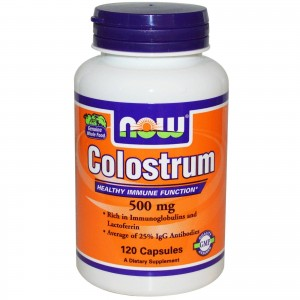 NOW FOODS Colostrum 500mg Συμπλήρωμα Διατροφής από Πρωτόγαλα, 120 caps
