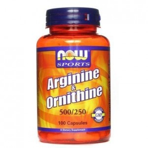 Now Foods L-Arginine & Ornithine 500/250mg 100 Κάψουλες