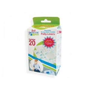 Babywise Potette Plus Potty Liners, Σακούλες Ανταλλακτικές Βιοδιασπώμενες σε Ρολό, 20τμχ
