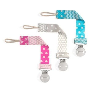 Chicco Pacifier Fashion Clip Κλιπ Πιπίλας σε Ροζ Χρώμα, 1 τεμάχιο