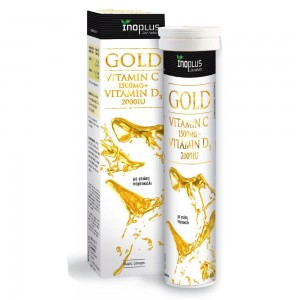 Inoplus Gold Vitamin C 1500mg + Vitamin D3 2000IU, 20 αναβράζοντα δισκία