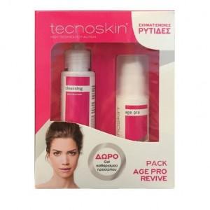 Tecnoskin Age Pro Revive & Hydralift Cream για σχηματισμένες ρυτίδες, 50ml & ΔΩΡΟ GEL καθαρισμού προσώπου, 100ml