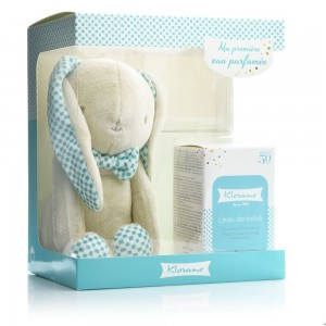 KLORANE Gift Set L' Eau de Bebe Garcon - Βρεφικό Αρωματισμένο νερό για το αγόρι 50ml & ΔΩΡΟ Aρκουδάκι