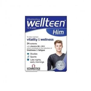 Vitabiotics Wellteen Him Πολυβιταμίνη Για Αγόρια 13-19 Ετών - Συμπλήρωμα Διατροφής 30Tabs