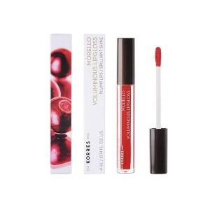 Korres Morello Voluminous Lipgloss 54 Real Red, Lip gloss με εξαιρετική λάμψη και γεμάτο χρώμα. 4ml