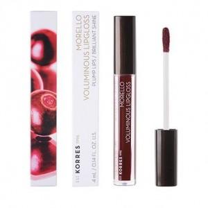 Korres Morello Voluminous Lipgloss 58 Bloody Cherry με Εξαιρετική Λάμψη & Γεμάτο Χρώμα, 4ml
