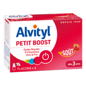 Alvityl Petit Boost Gelee Royal, 8 Vitamines, Zinc & Fer 8 αμπούλες 10ml